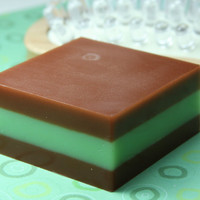 Chocolate Peppermint Scent, Glycerin Soap, Aloe Vera, Goat Milk, 5.3 oz