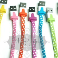 Polka Dot 3 in 1 charger kit-iPhone 4 & 5