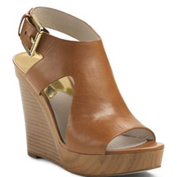 MICHAEL Michael Kors Josephine Leather Wedge Sandal
