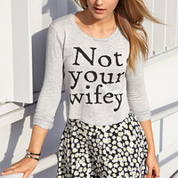 Not Your Wifey Crop Top