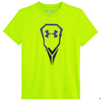 Under Armour Ripped Youth Lacrosse Tee in Neon from Lax Unlimited
