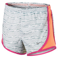 Nike Girls Youth Running Shorts Grey/Orange | Lacrosse Unlimited