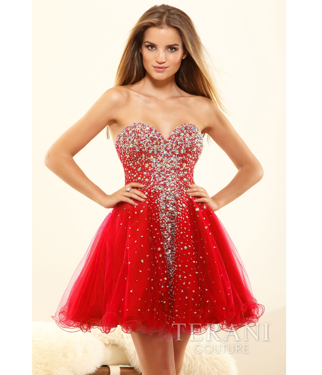Terani 2014 Prom Dresses - Red Crystal from Unique Vintage Red Prom Dresses 2014