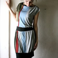 Striped Tshirt Dress by larimeloom on Etsy