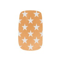 Orange With White Stars Minx Nails
