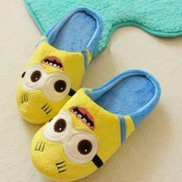 Despicable Me Cotton Slippers Minion Slippers + Key Chain