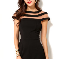 Lumier Detailed Collar Romper