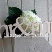 Mr and Mrs Wedding Table Decor Wooden Sign Wedding Signage