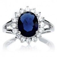 Catherine Middleton Inspired Faux Sapphire Engagement Ring, NBC Universal Store NBC The Royal Wedding