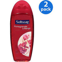 Softsoap Moisturizing Body Wash Pomegranate & Mango 18 oz, 2pk