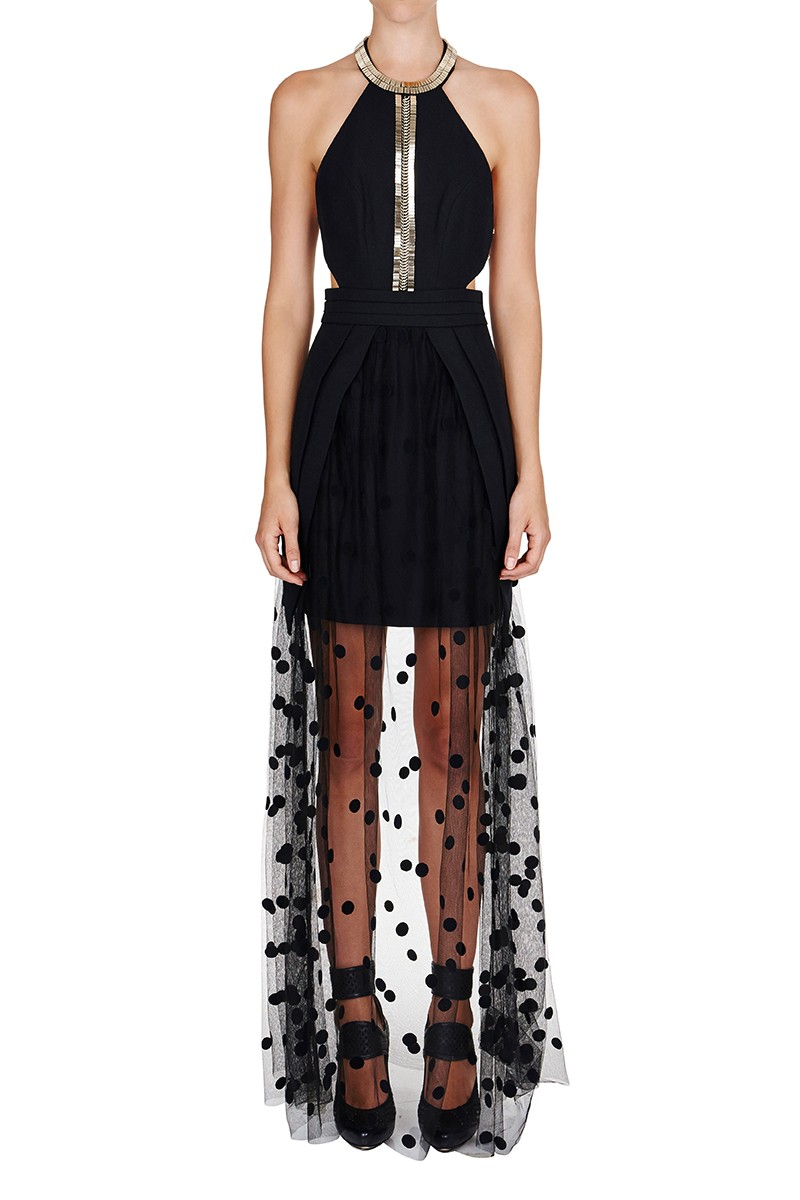 Sass and bide long black dress