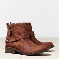 AEO Women's Buckled Ankle Boot (Brown)
