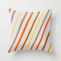 Linear Throw Pillow by Jensen Merrell Designs