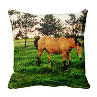 horse stable pillow
