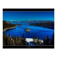 Emerald Bay, Lake Tahoe, California Poster Print