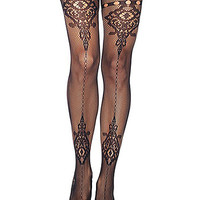 Cathedral Lace Fishnet Pantyhose