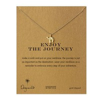 enjoy the journey camel necklace, gold dipped