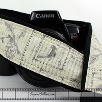 Camera Strap, Vintage Birds, dSLR or SLR, Antique Vintage, Birdwatcher, 156