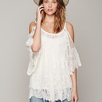 Free People On the Open Road Lace Tunic