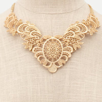 [sold out]   Charlotte Russe - Filigree Lace Bib Necklace