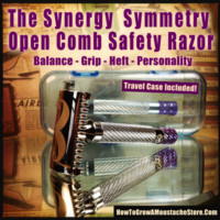 HowToGrowAMoustacheStore — The Symmetry Open Comb Safety Razor