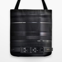 Camera Lens Tote Bag by Nicklas Gustafsson