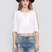 SUMMER BREEZE CROP BLOUSE