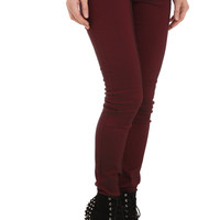 Celebrity Pink Red Mineral Wash Skinny Jeans