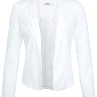 Petites Ivory Notch Blazer - Coats & Jackets - Clothing