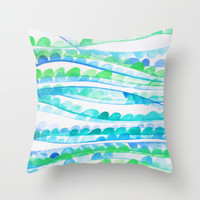 Sea Festival Throw Pillow by DuckyB (Brandi)