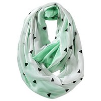 Mossimo Supply Co. Double-Sided Triangle Print Infinity Scarf - Mint