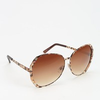 Printed Oversized Sunglasses - Urban Outfitters