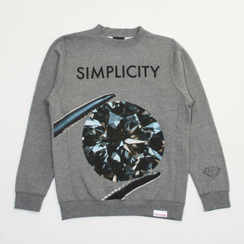 Simplicity II Crewneck Sweatshirt in Heather Grey