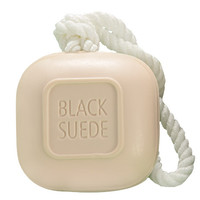 Avon: Black Suede Soap-on-a-Rope