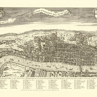 A View of London: 1560 - REPRODUCTION MAPS