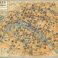 Paris Ses Monuments Guide Pratique Du Visiteur (Visitors Guide to the Monuments of Paris) - REPRODUCTION MAPS