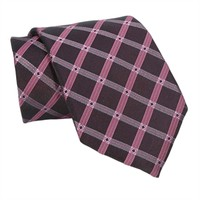 Santorelli® Grid Plaid Woven Silk Tie at Von Maur
