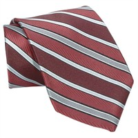 Santorelli® Textured Striped Woven Silk Tie at Von Maur