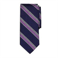 Brooks Brothers Twill Sidewheeler Striped Woven Silk Tie at Von Maur