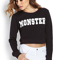 Monster Cropped Sweatshirt