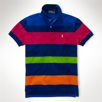 Polo Ralph Lauren Custom-Fit Striped Mesh Polo at Von Maur