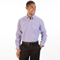 Forsyth of Canada Non-Iron Gingham Button Down Shirt at Von Maur