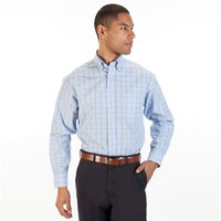 Enro Regular Fit Non-Iron Checked Shirt at Von Maur