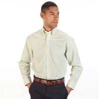 Enro Regular Fit Non-Iron Plaid Button Down Shirt at Von Maur