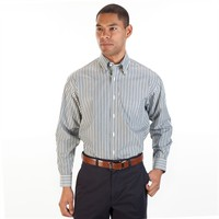 Enro Regular Fit Non-Iron Striped Button Down Shirt at Von Maur