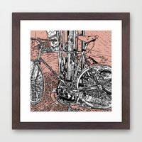 bike Framed Art Print by lush tart