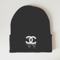 Dripping Chanel Beanie - Default Title