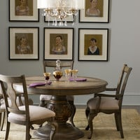Claresta Dining Furniture with Pedestal Table