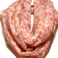 Infinity scarf. Circle scarf. Loop Scarf. Women Accessories.