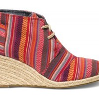 Red Tribal Essien Women's Desert Wedges
